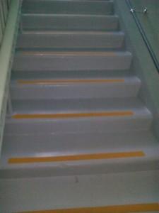 антискользящие ленты на ступенях детского сада р-он Сульфат